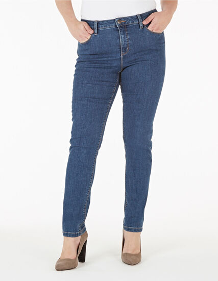 Mid Wash Short Slim Leg Jean, Mid Wash, hi-res