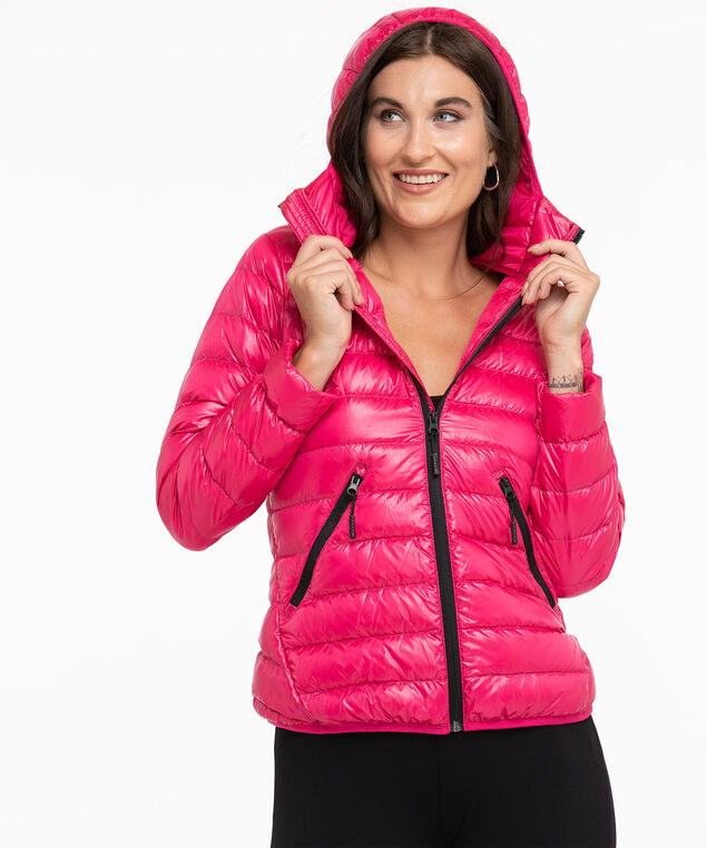 Recycled Pack It Up Down Jacket, Hot Pink