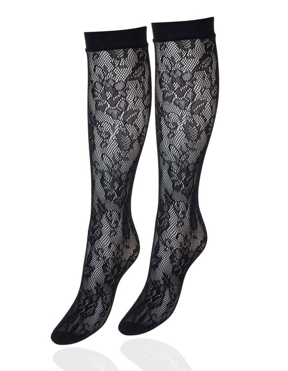 Patterned Trouser Socks, Black, hi-res