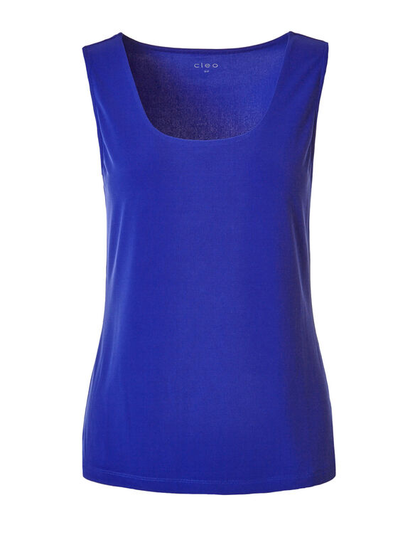 Cobalt Essential Layering Top, Cobalt, hi-res