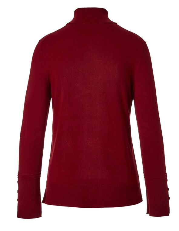 Red Turtleneck Sweater, Red, hi-res