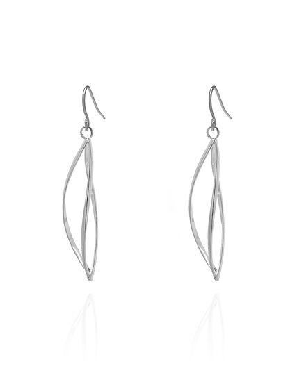 Drop Twist Earrings, Silver, hi-res