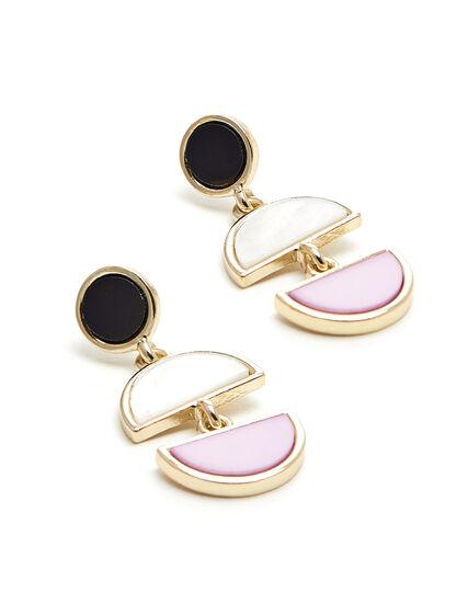 Tri Drop Earring, Gold/Pink, hi-res
