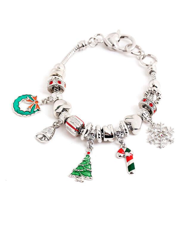 Holiday Charm Bracelet, Silver