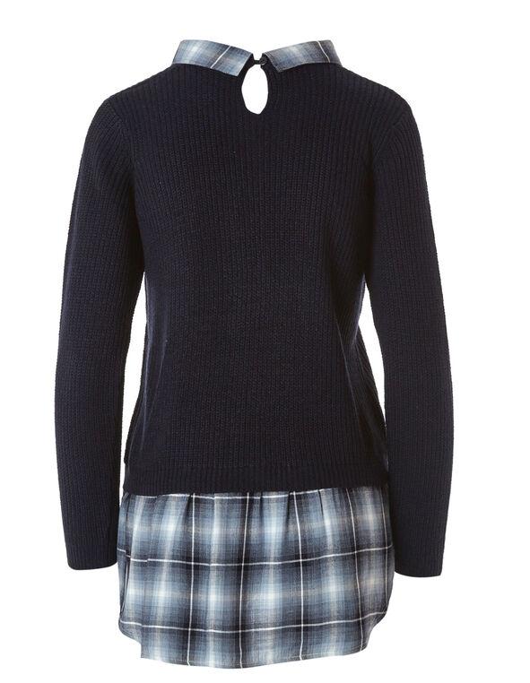 Navy Fooler Sweater, Navy, hi-res