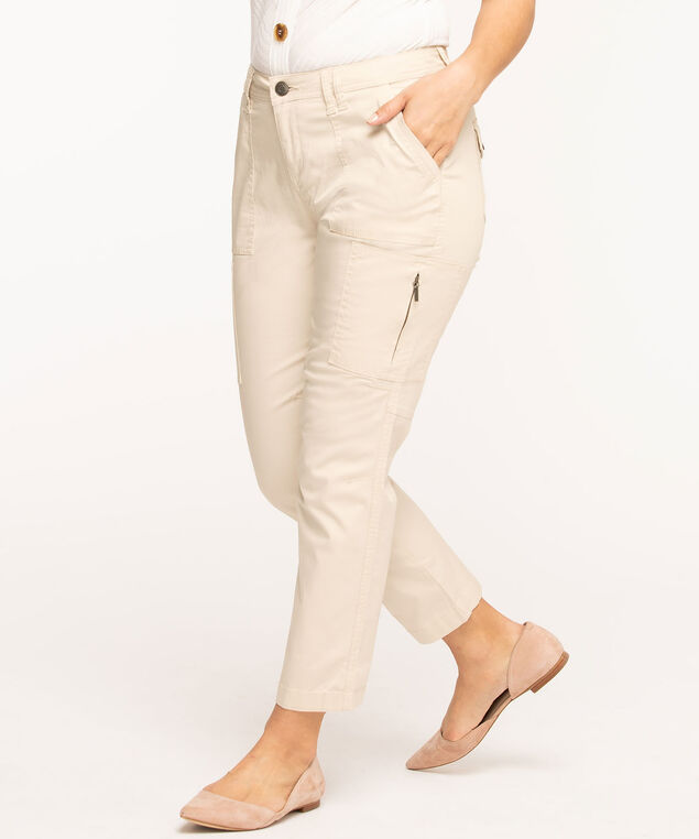 Chino Cargo Ankle Pant, Tan
