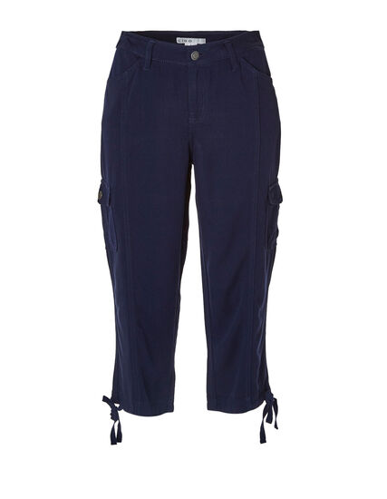 Navy Soft Cargo Capri, Navy, hi-res