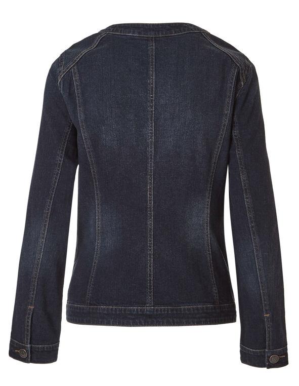Dark Wash Denim Jacket, Dark Wash, hi-res