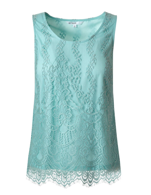 Sea Mist Lace Top, Sea Mist, hi-res