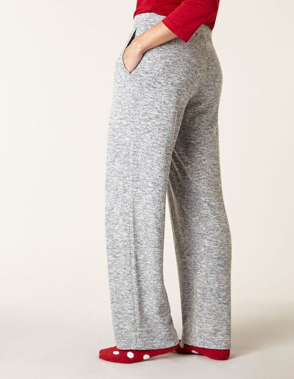 Grey Mix Hacchi Straight Leg Pant, Grey, hi-res