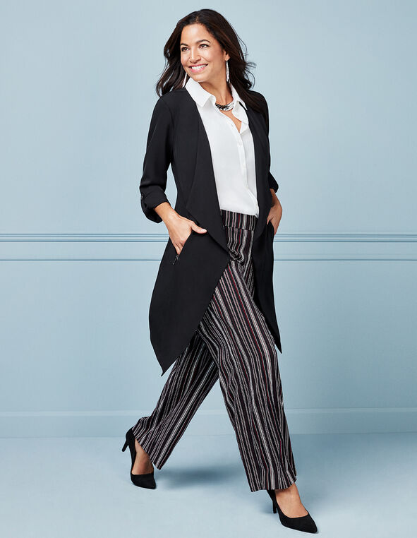 Wine Striped Wide Leg Pant, Sangria/Black, hi-res