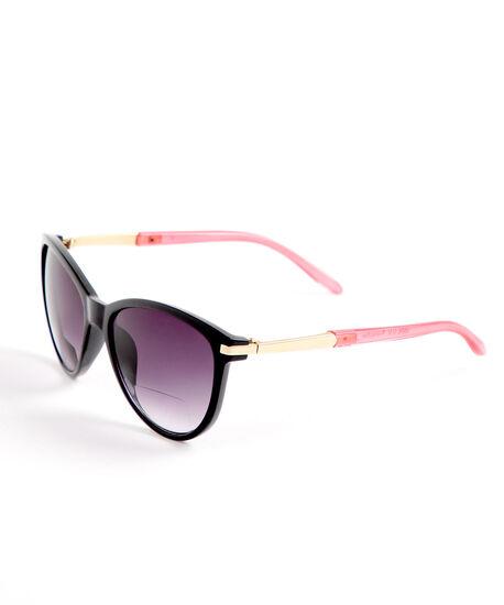 Black Pink Bi-Focal Sunglasses, Black, hi-res