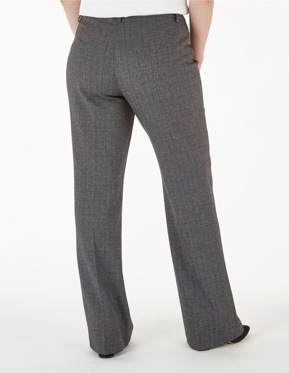 Grey Curvy Short Trouser Pant, Grey, hi-res