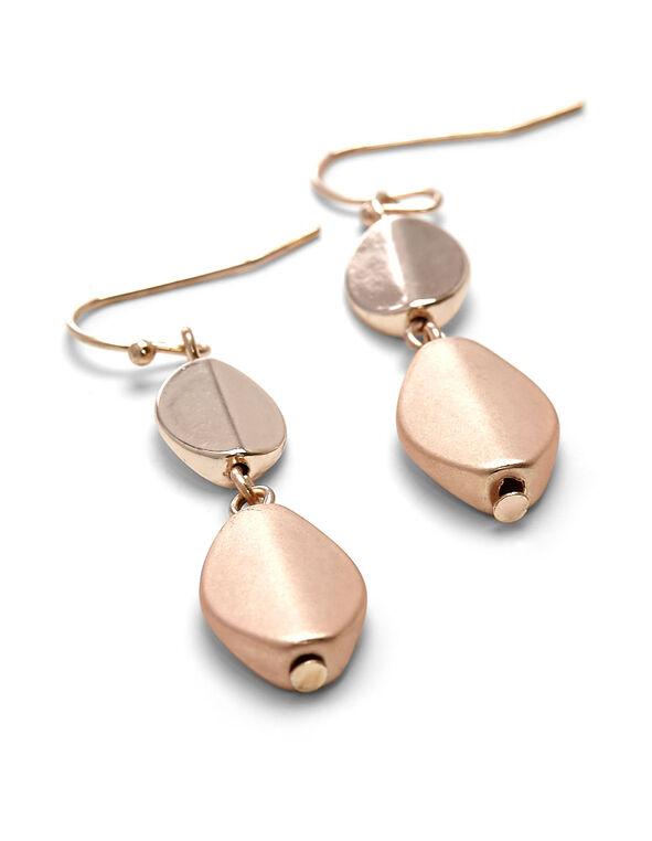 Rose Gold Beaded Drop Earring, Rose Gold, hi-res