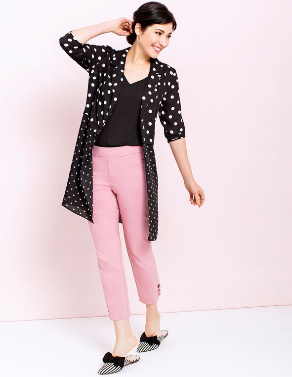 Long Dotted Topper Look, , hi-res