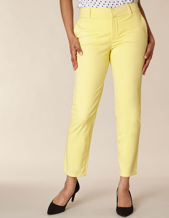 Citrus Chino Slim Ankle Pant, Yellow/Citrus, hi-res