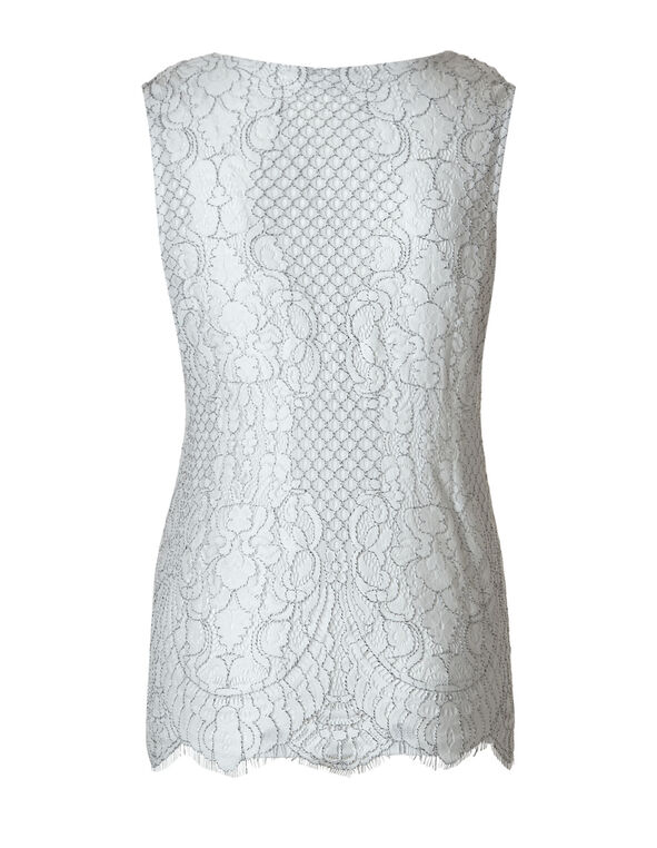 Ivory Lace Top, Ivory, hi-res