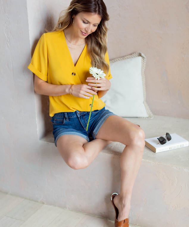 Gold Blouse Look,