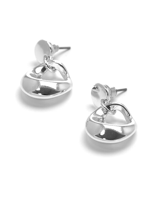 Silver Drop Earring, Silver, hi-res