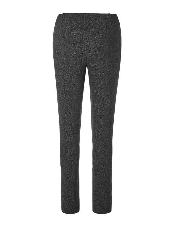 Grey Printed Pullon Legging, Black/Grey, hi-res