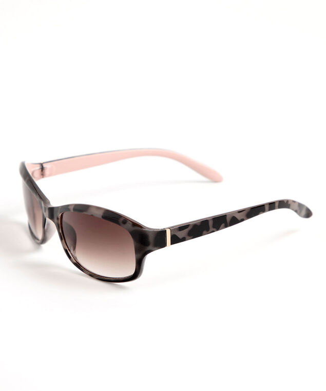 Tortoise Shell Sunglasses, Brown/Pink