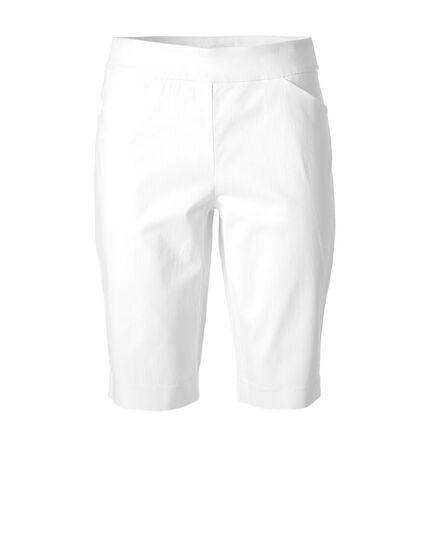 White Pull On Short, White, hi-res