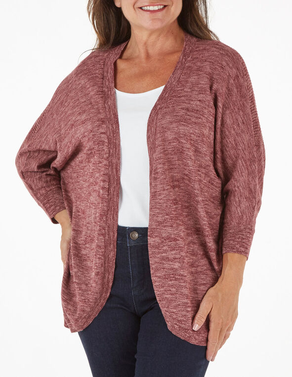 Wine Cocoon Slub Cardigan, Wine, hi-res