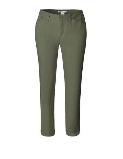 Olive Cotton Chino Ankle Pant, Olive, hi-res