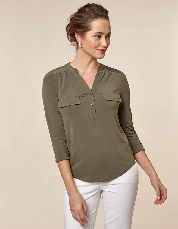 Olive Utility Top, Green/Olive, hi-res