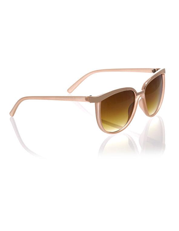 Neutral Pink Wayfarer Sunglasses, Pink, hi-res