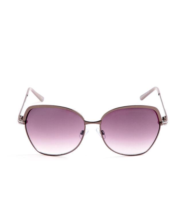 Large Brown Metal Sunglasses, Brown