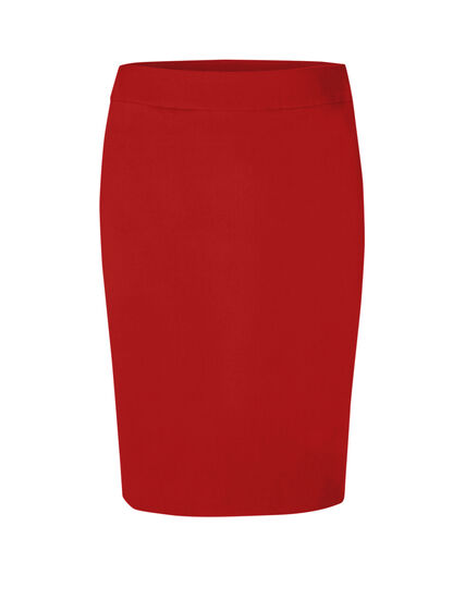 Red Pull On Pencil Skirt, Red, hi-res