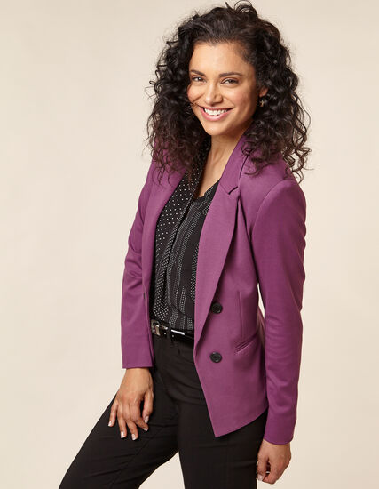 Berry Open Style Blazer, Purple/Berry, hi-res