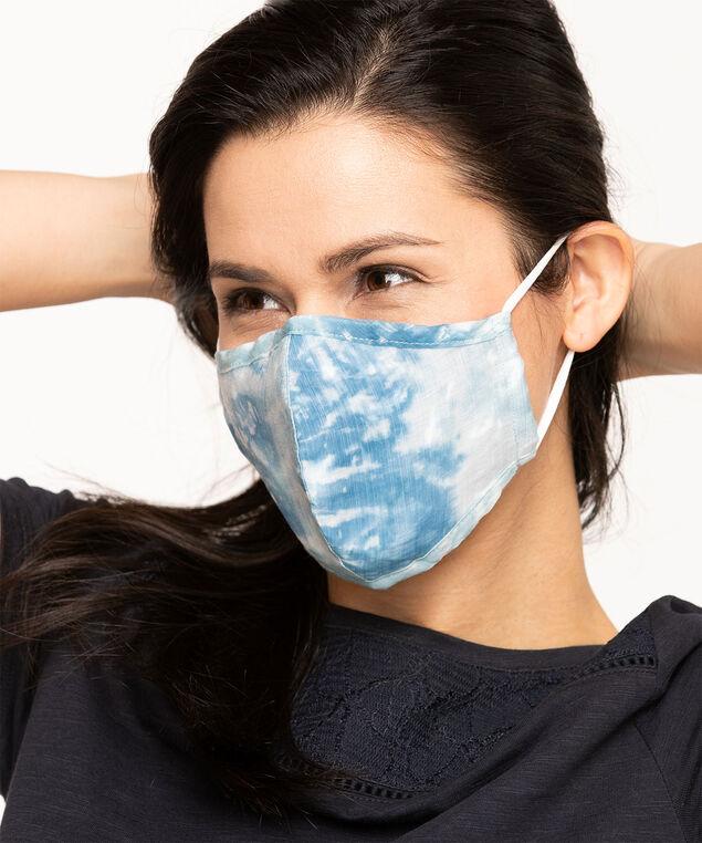 Tie-Dye Cotton Face Mask Set, Blue/Pink