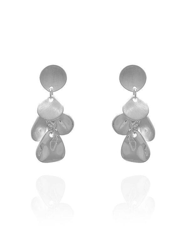 Mixed Silver Earring, Silver, hi-res