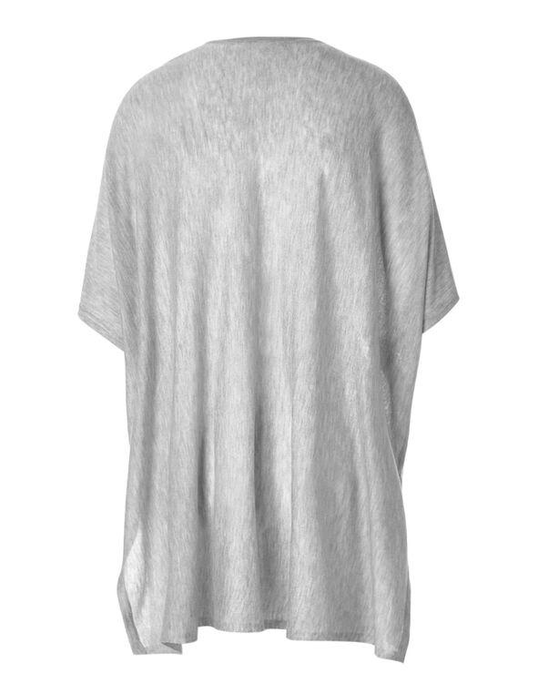 Light Grey Open Cardigan, Light Grey, hi-res