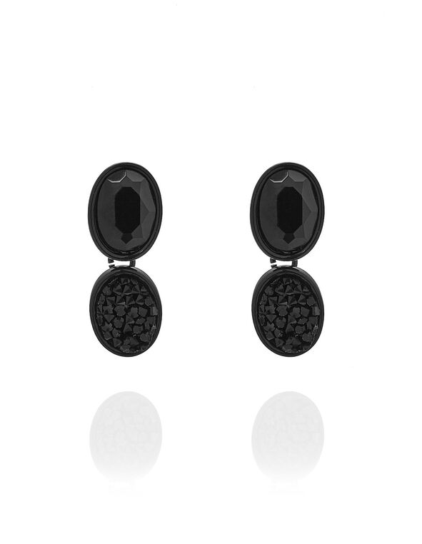 Jet Black Caviar Beaded Earring, Black, hi-res
