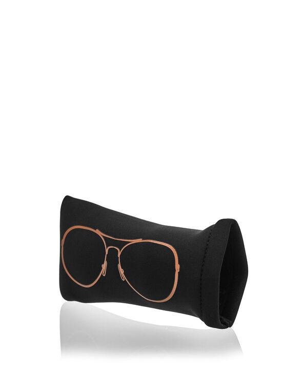 Black Aviator Sunglasses Case, Black, hi-res