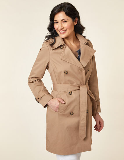 Camel Trench Coat, Neutral/Camel, hi-res