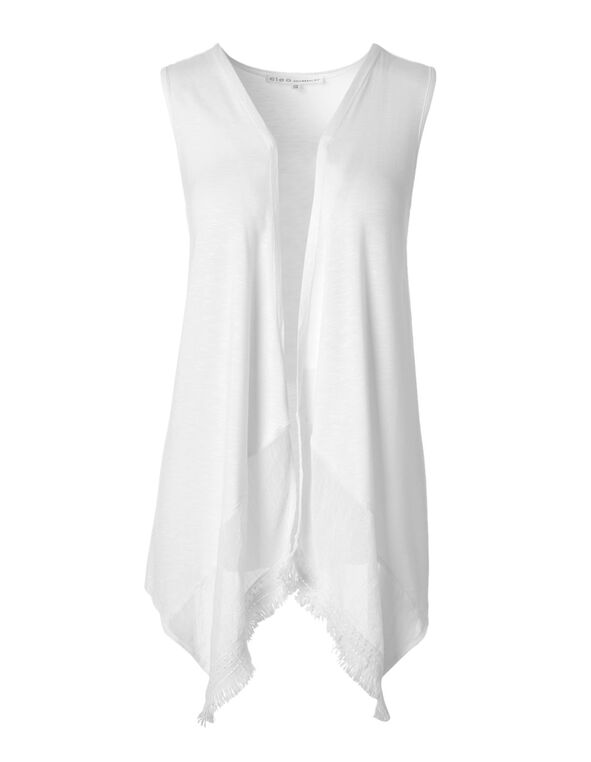 White Vest Topper, White, hi-res