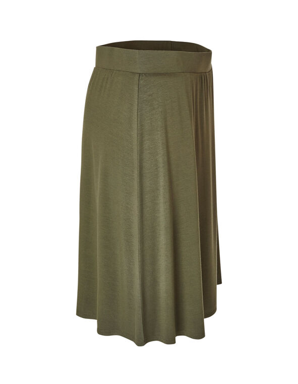 Olive Pull-On Skirt, Olive, hi-res