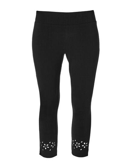 Black Cotton Legging, Black, hi-res