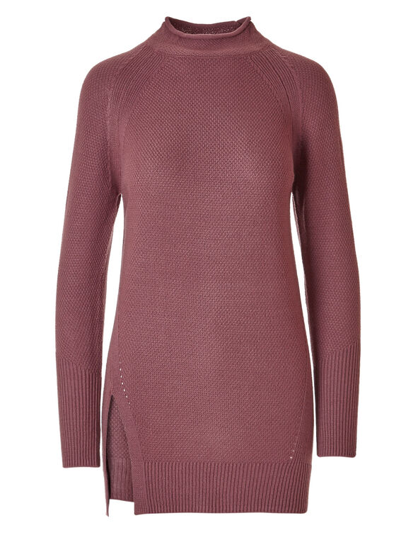 Rosebud Tunic Sweater, Rosebud, hi-res