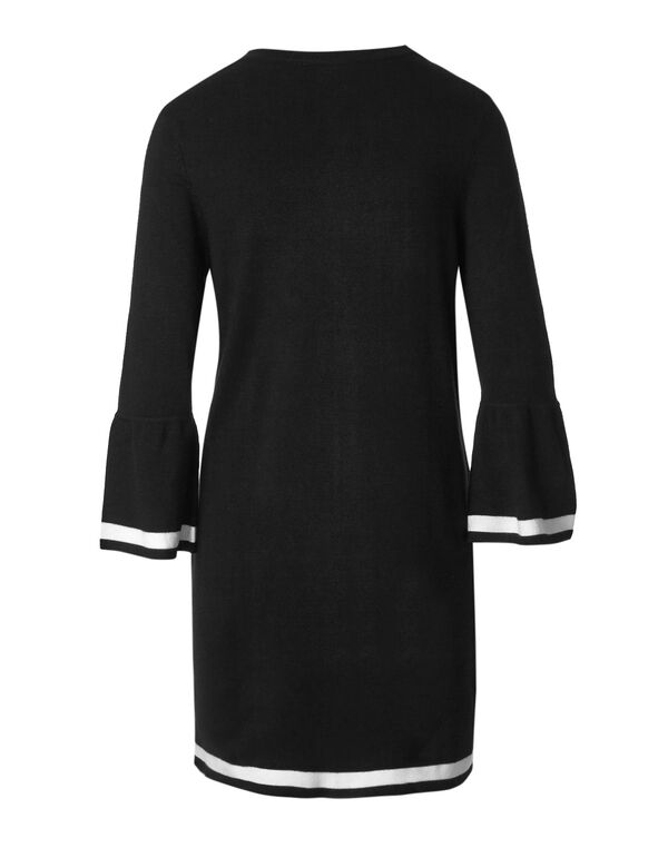 Black Bell Sleeve Cardigan, Black, hi-res