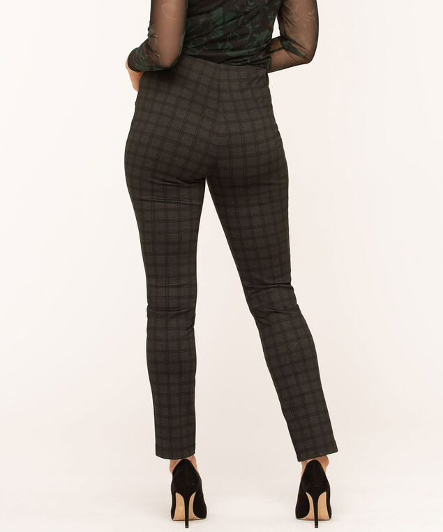 Patterned Button Detail Legging, Grey/Black