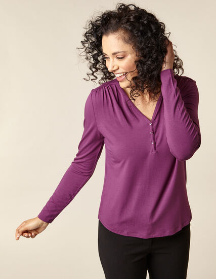 Berry Long Sleeve Top, Purple/Berry, hi-res
