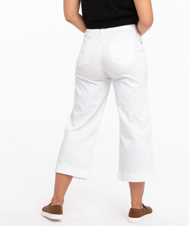 White Wide Leg Crop Jean, White