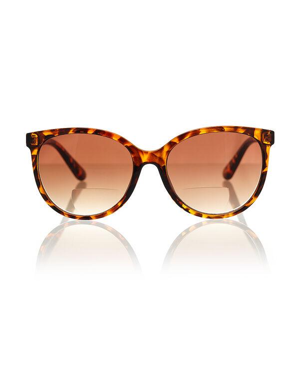 Tortoise Bi-Focal Medium Sunglasses, Brown, hi-res