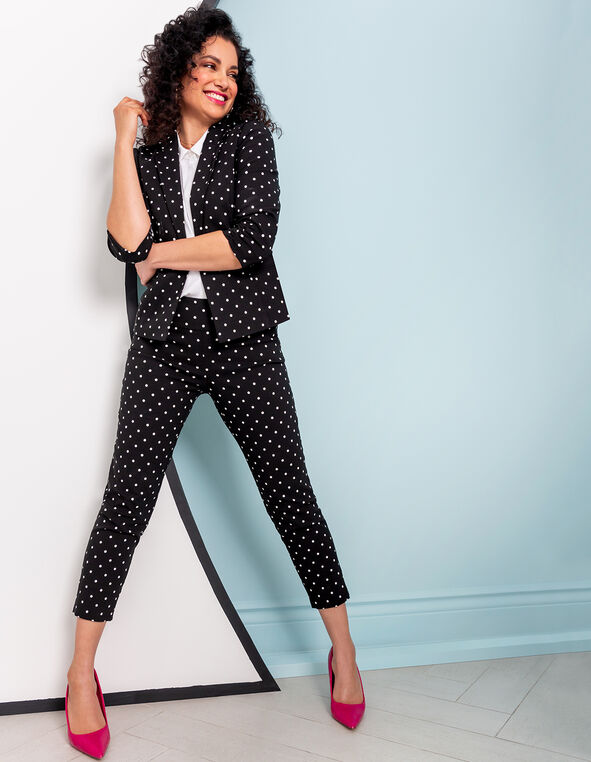 Polka Dot Ankle Pant Look, , hi-res