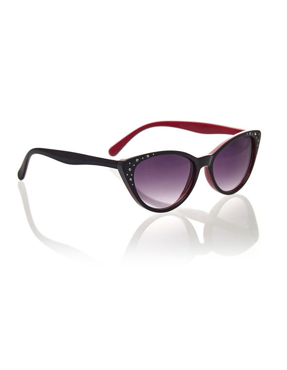 Pink Cateye Sunglasses, Pink, hi-res